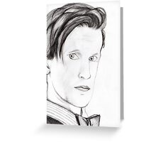 Eleventh Doctor Greeting Card