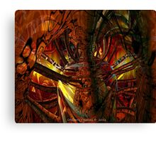 Digital Artist Heart  Canvas Print