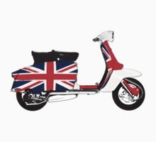 Lambretta Scooter UK Flag by Scooterist