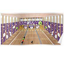 Ten-pin bowling alley Poster