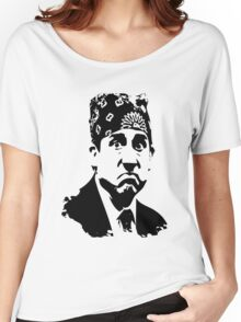 The Office Prison Mike -  Steve Carrell Women's Relaxed Fit T-Shirt
