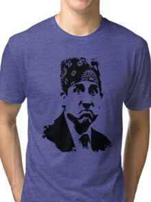 The Office Prison Mike -  Steve Carrell Tri-blend T-Shirt