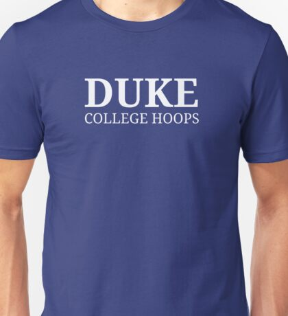Duke College Hoops Unisex T-Shirt