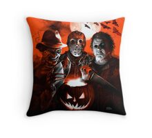 Super Villains Halloween Throw Pillow