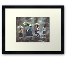 The Rain - La Lluvia Framed Print