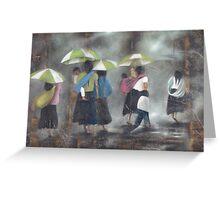 The Rain - La Lluvia Greeting Card