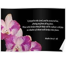 Psalms 34:4,5 Poster