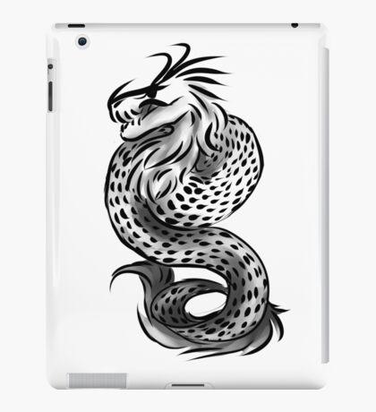 Grayscale dragon iPad Case/Skin