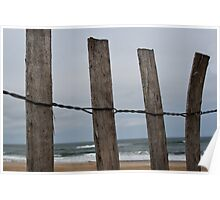 Ocean Through the Fence Poster