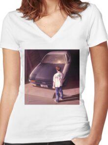 Xavier Wulf Women's Fitted V-Neck T-Shirt