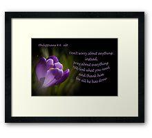 Phillipians 4:16 Framed Print