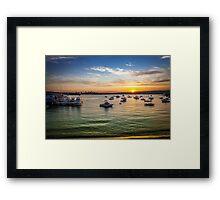 Fishing Boats so calming! Framed Print
