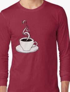 coffee scribble Long Sleeve T-Shirt