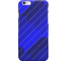 Blue Abstract Bricks iPhone Case/Skin
