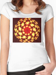Gold Globe Women's Fitted Scoop T-Shirt