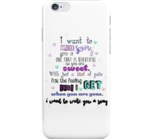 One Direction - I Want To Write You A Song iPhone Case/Skin