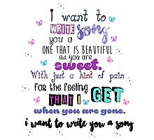 One Direction - I Want To Write You A Song Photographic Print