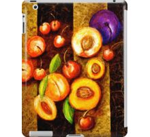 Still Life with, Cherries, Nectarines, Apricots, Peaches and One Plum iPad Case/Skin
