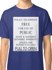 Police Telephone Box Classic T-Shirt