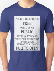 Police Telephone Box Unisex T-Shirt