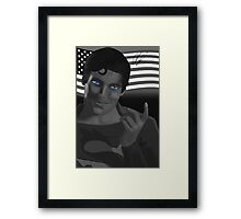 Truth, Justice and the American way Framed Print