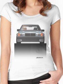 Modern Euro Icons Series Mercedes Benz W124 500E E-Class (Split) Women's Fitted Scoop T-Shirt