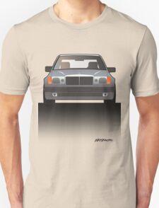 Modern Euro Icons Series Mercedes Benz W124 500E E-Class (Split) Unisex T-Shirt