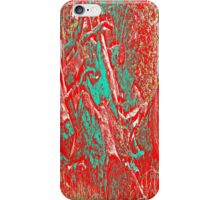 Wood Pile in Red & Green iPhone Case/Skin
