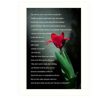 Matthew 6:25-30 Art Print