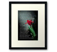 Matthew 6:25-30 Framed Print
