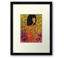 The Wise Lady Who Lives Next Door Framed Print