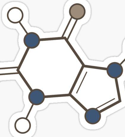 caffeine molecular structure Sticker