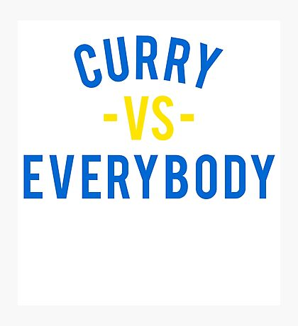 Steph Curry VS Everybody Photographic Print