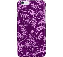 Purple And Pink Retro Floral Swirls Design iPhone Case/Skin