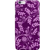Purple And Pink Retro Floral Swirls Design iPhone Case/Skin