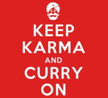 Keep Karma And Curry On Kids Tee