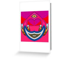 pink & blue Greeting Card