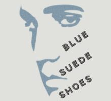 Blue Suede Shoes Elvis silhouette in blue for light garments by HomeTimeArt