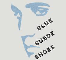 Blue Suede Shoes Elvis silhouette in blue for light garments Unisex T-Shirt