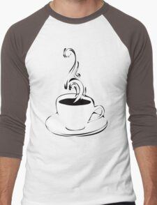 coffee curls Men's Baseball ¾ T-Shirt