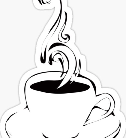 coffee curls Sticker