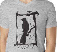 Raven Moon Mens V-Neck T-Shirt