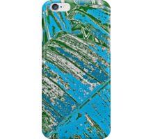 Big Leaf in Black & Blue iPhone Case/Skin