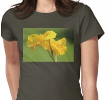 Yellow Canna Lilies Womens Fitted T-Shirt