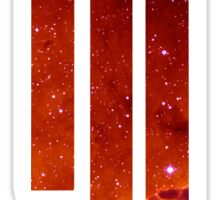 Skrillex galaxy red Sticker