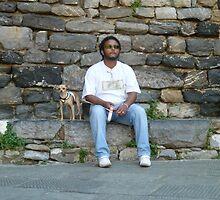 Italian boy with dog by joycee