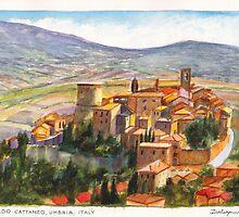 Gualdo Cattaneo Umbria by Dai Wynn