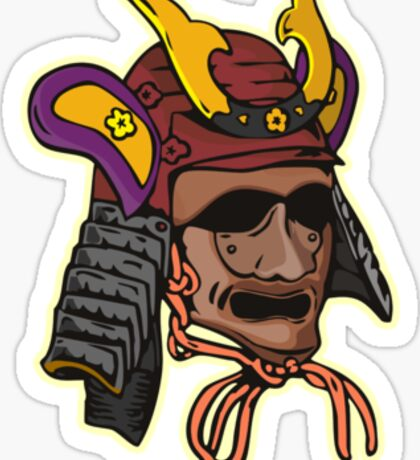 Samurai Mask Sticker