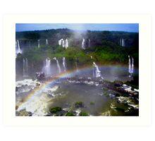 Iguazu Rainbow Art Print