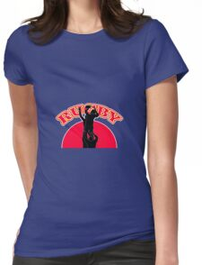 rugby player lineout ball Womens Fitted T-Shirt
